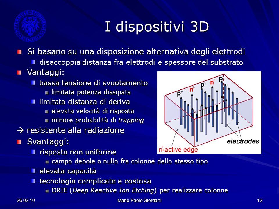 I dispositivi 3D Si basano su una disposizione alternativa degli elettrodi. disaccoppia distanza fra elettrodi e spessore del substrato.