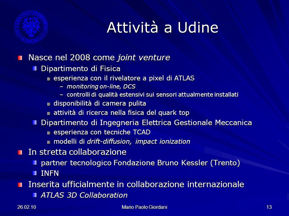 Attività a Udine Nasce nel 2008 come joint venture