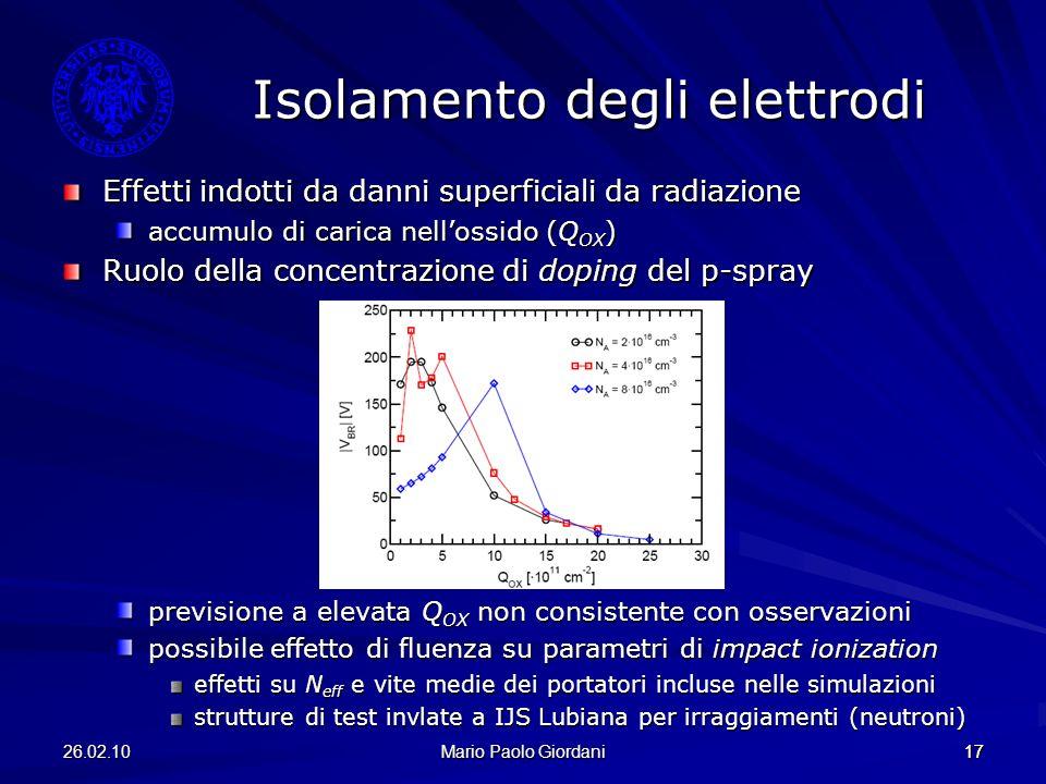 Isolamento degli elettrodi
