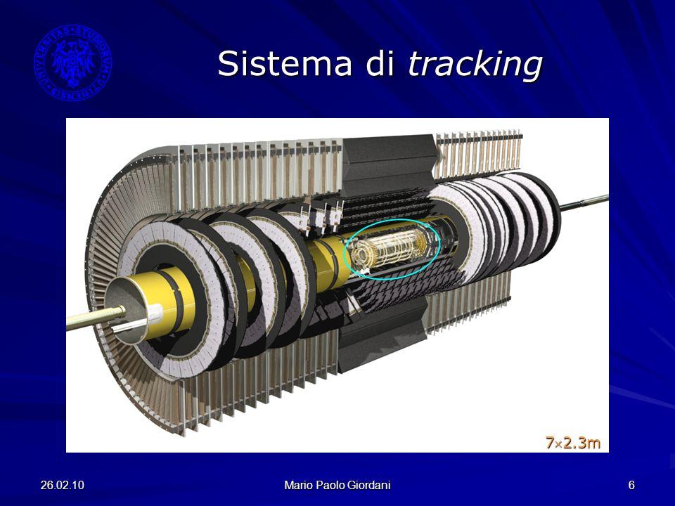 Sistema di tracking 72.3m 26.02.10 Mario Paolo Giordani