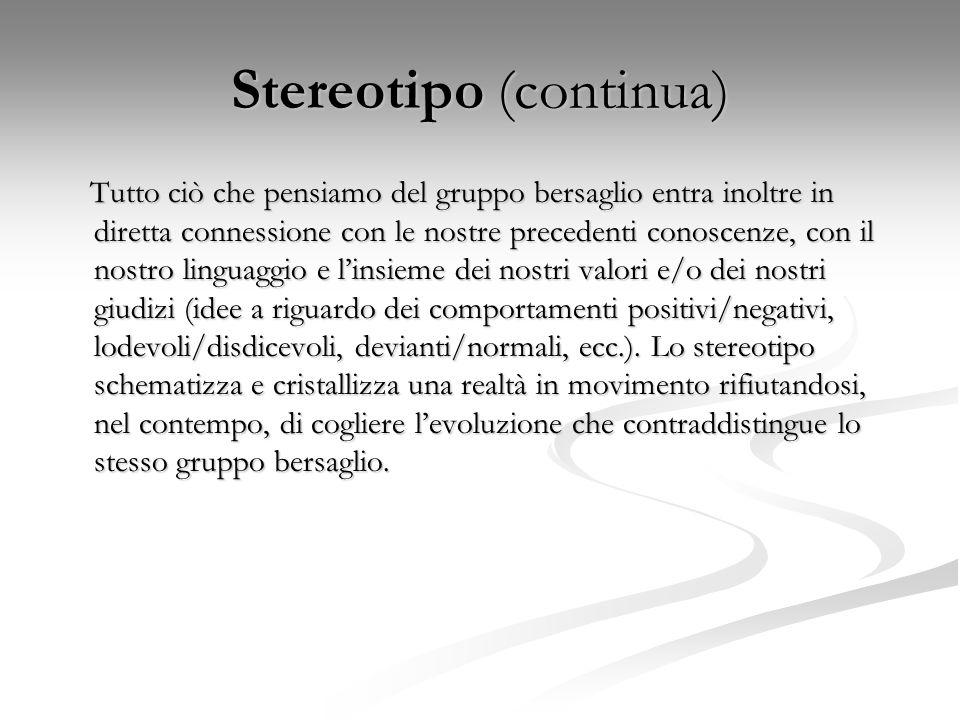 Stereotipo (continua)