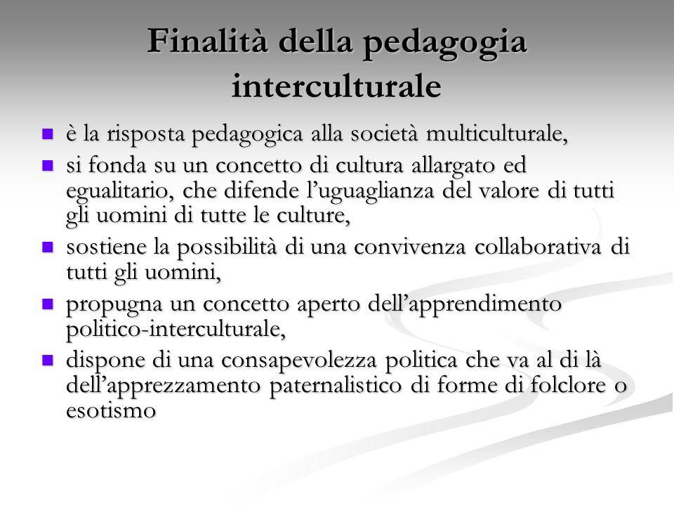 Finalità della pedagogia interculturale