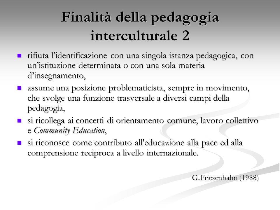 Finalità della pedagogia interculturale 2