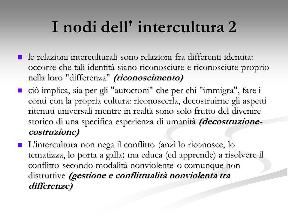 I nodi dell intercultura 2