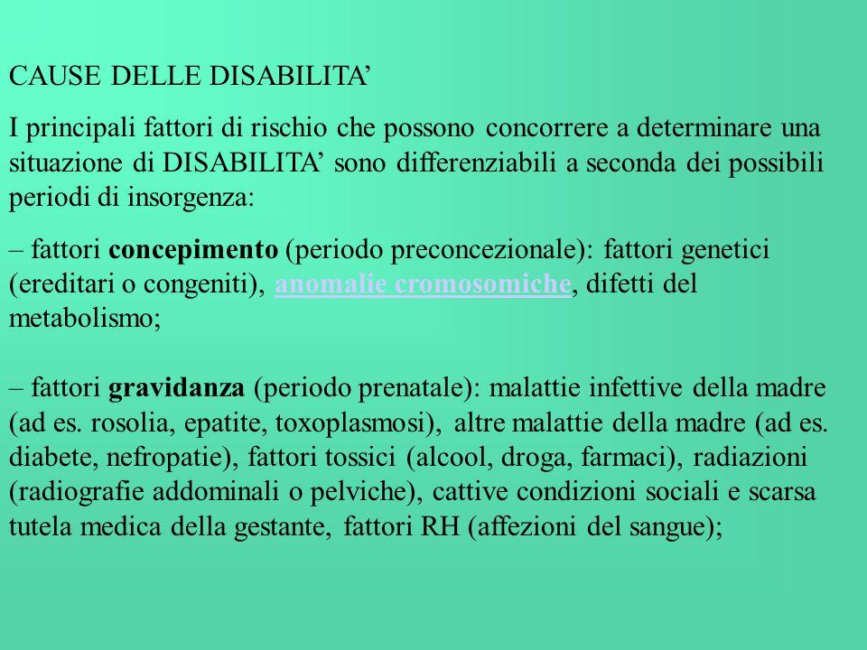 CAUSE DELLE DISABILITA'