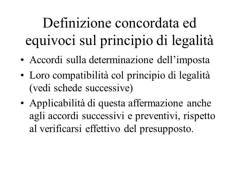 Definizione concordata ed equivoci sul principio di legalità