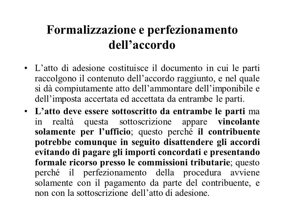 Formalizzazione e perfezionamento dell'accordo