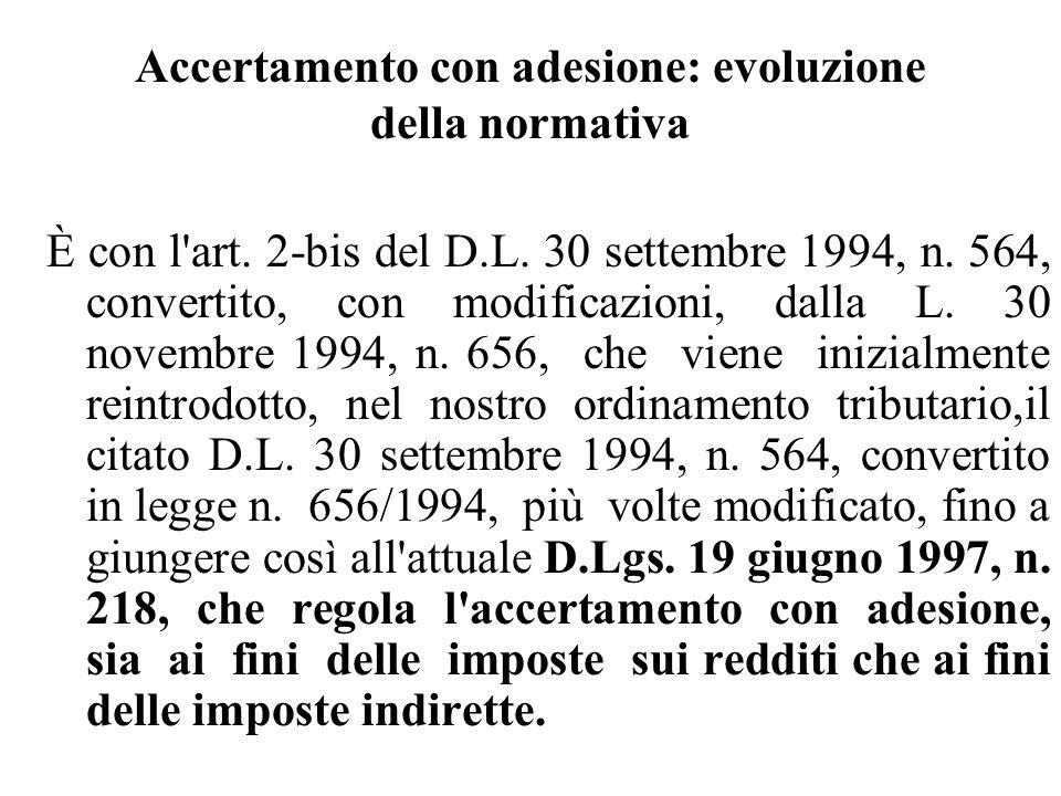 Accertamento con adesione: evoluzione della normativa