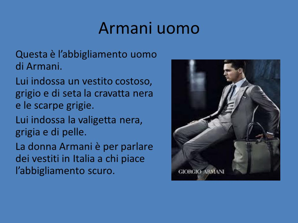 Armani uomo