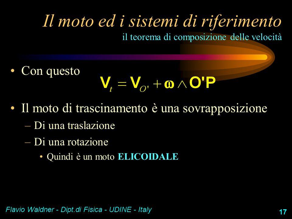 Il moto ed i sistemi di riferimento il teorema di composizione delle velocità