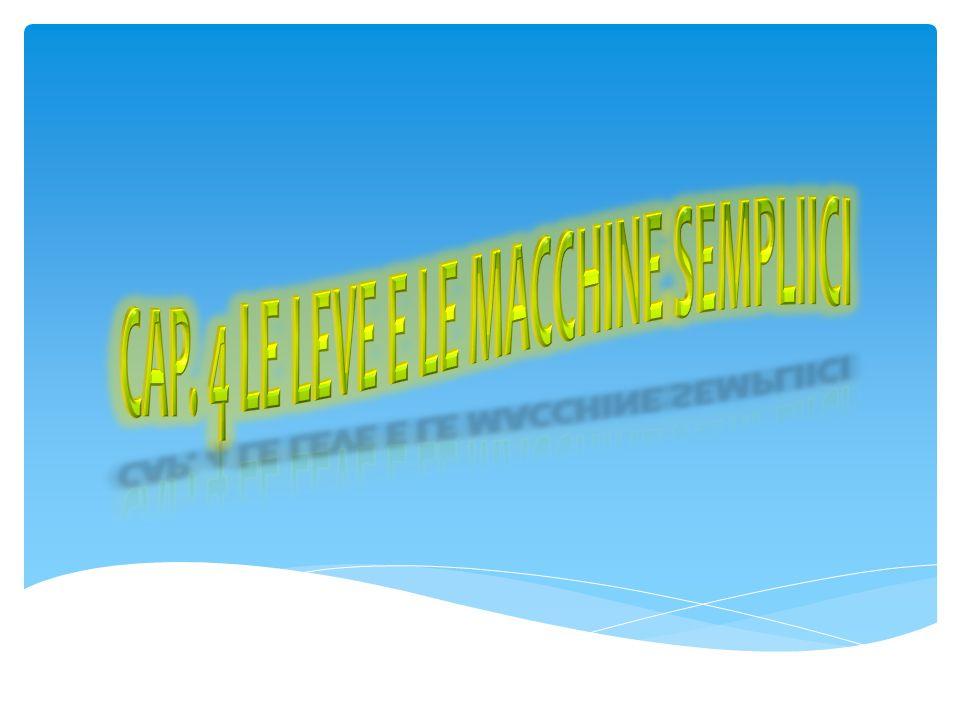 Cap. 4 Le Leve e le macchine sempliici