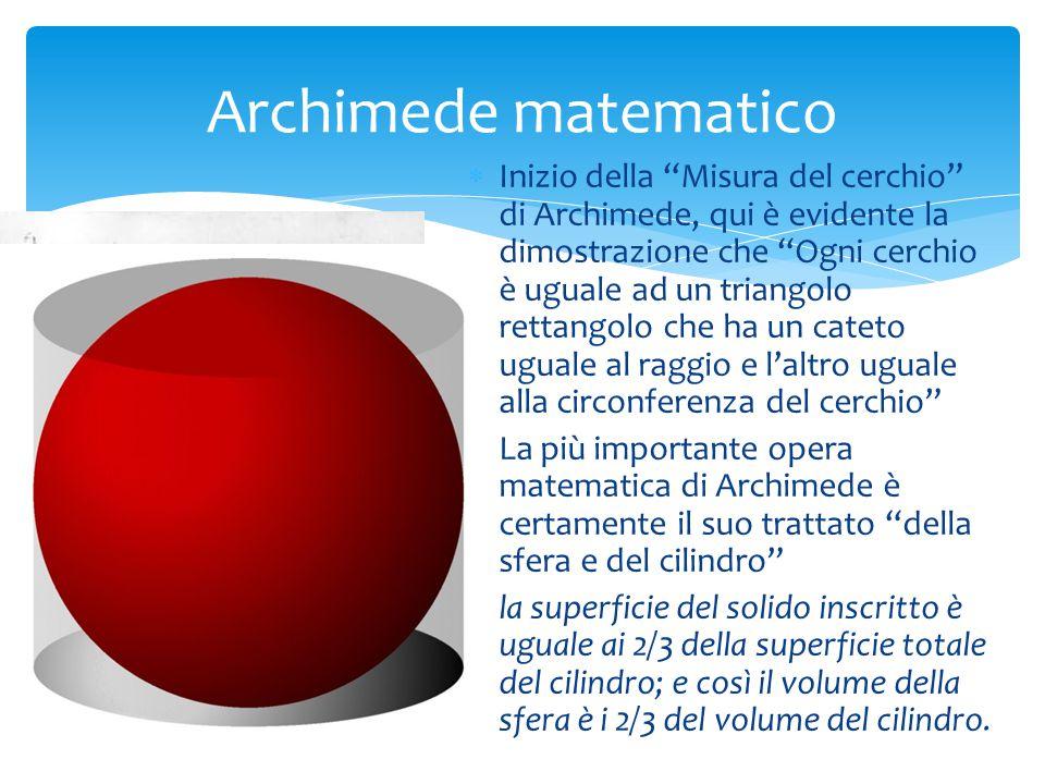 Archimede matematico
