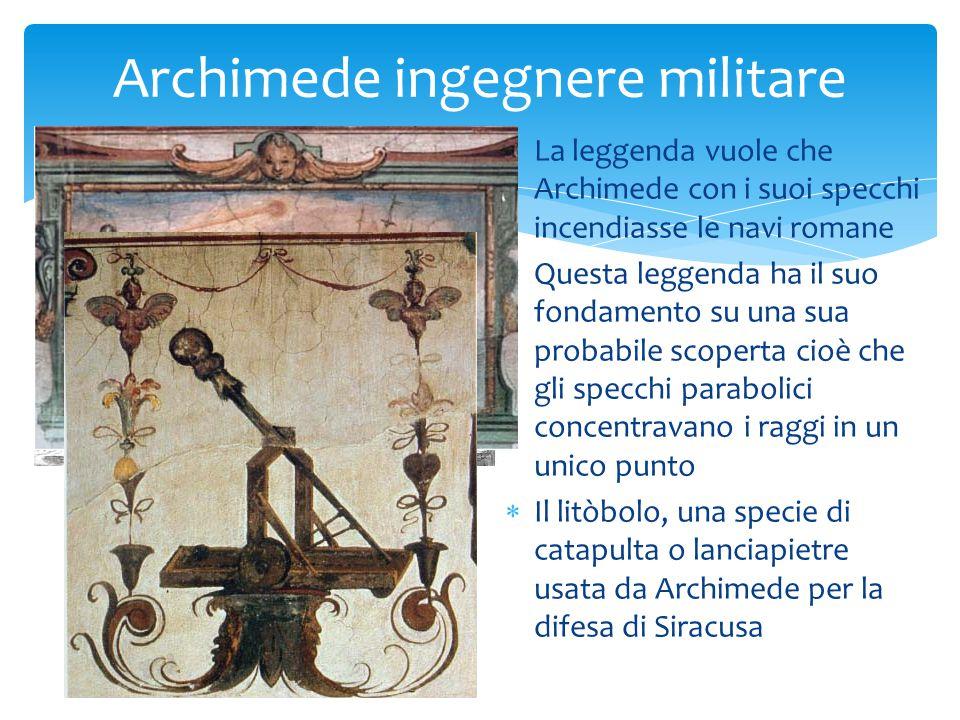 Archimede ingegnere militare