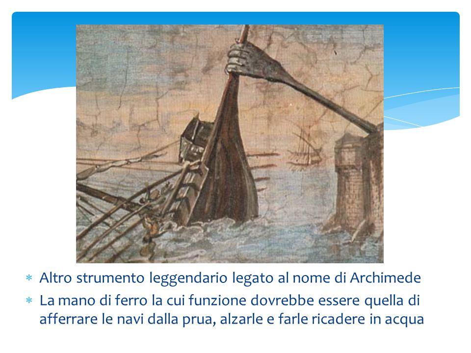 Altro strumento leggendario legato al nome di Archimede