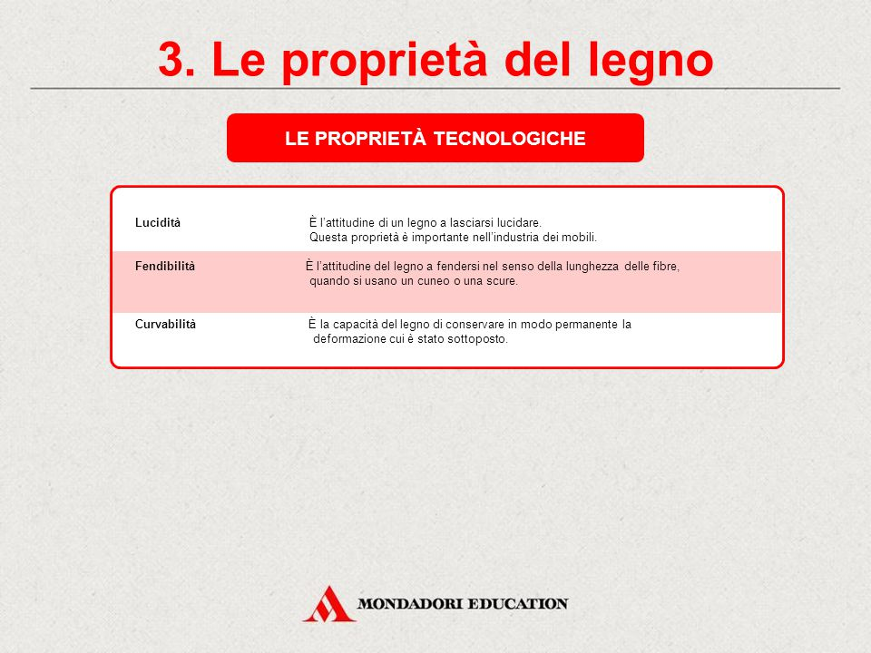 LE PROPRIETÀ TECNOLOGICHE