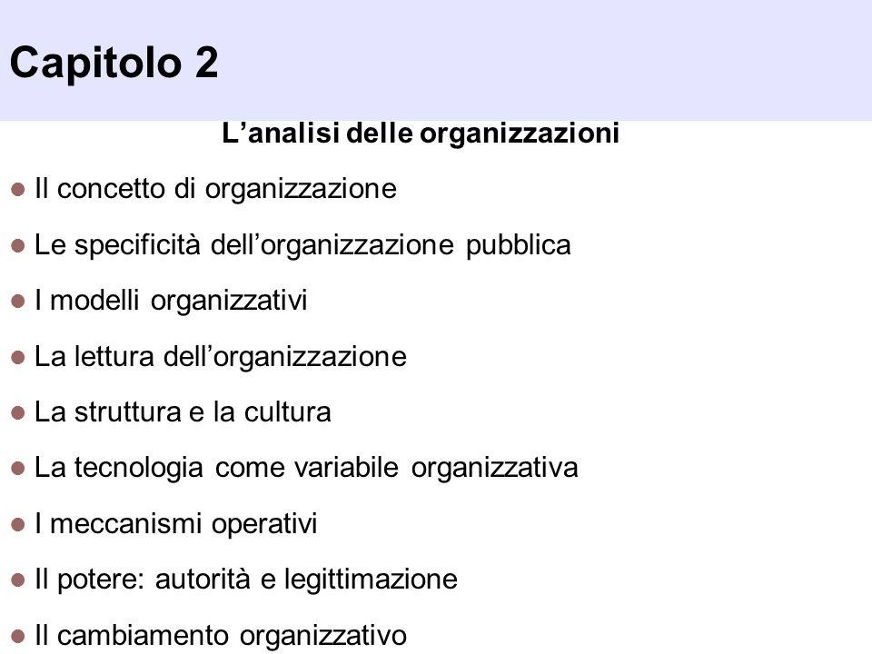 L'analisi delle organizzazioni