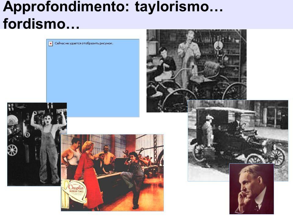 Approfondimento: taylorismo… fordismo…