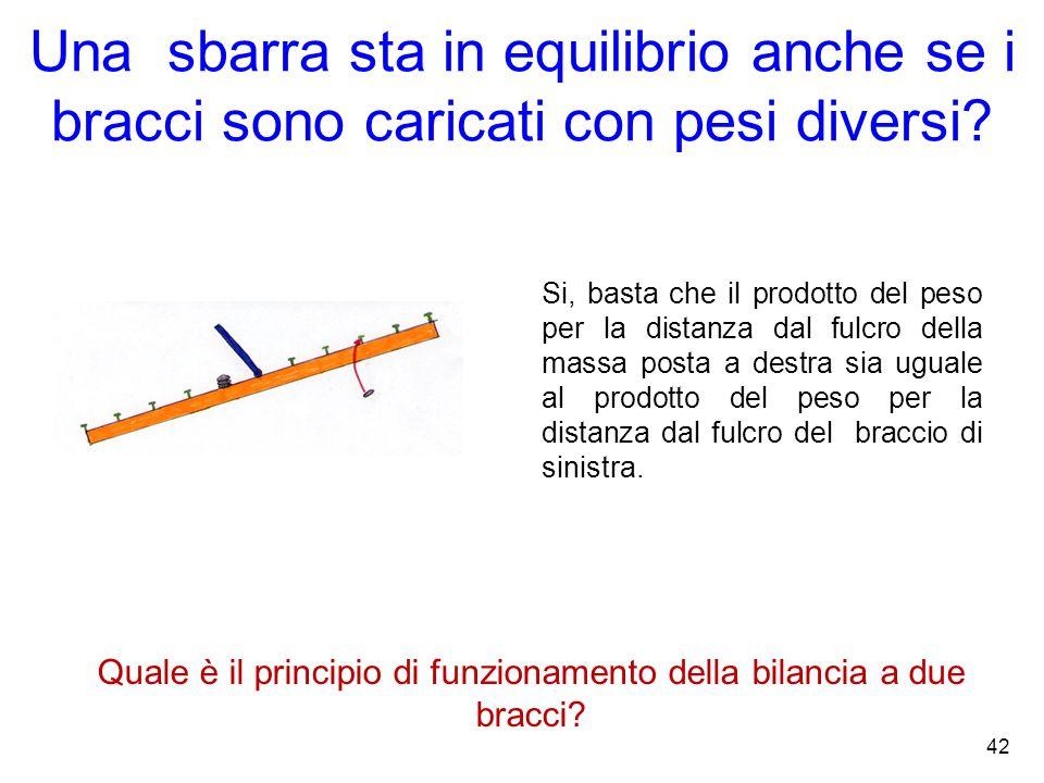 Quale è il principio di funzionamento della bilancia a due bracci