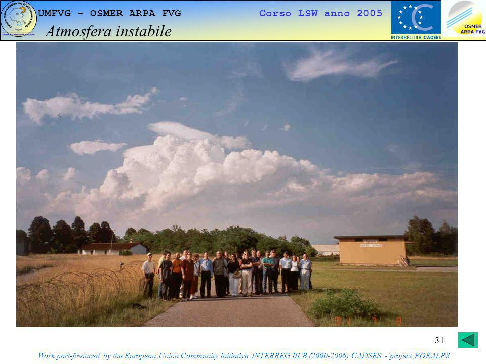 Atmosfera instabile UMFVG - OSMER ARPA FVG Corso LSW anno 2005
