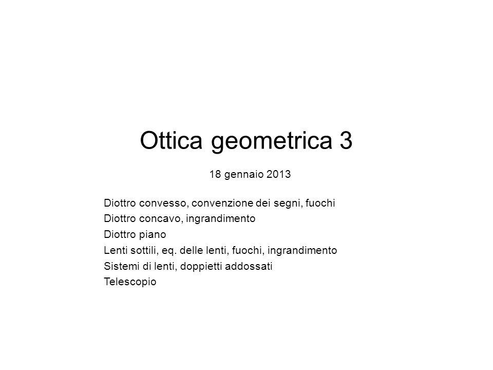 Ottica geometrica 3 18 gennaio 2013