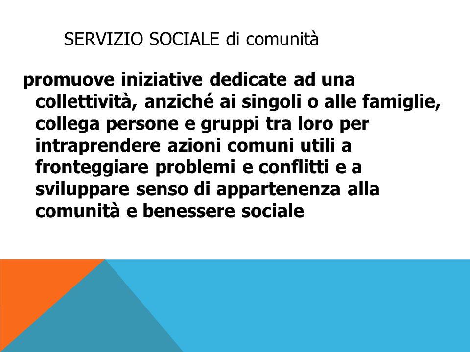 SERVIZIO SOCIALE di comunità