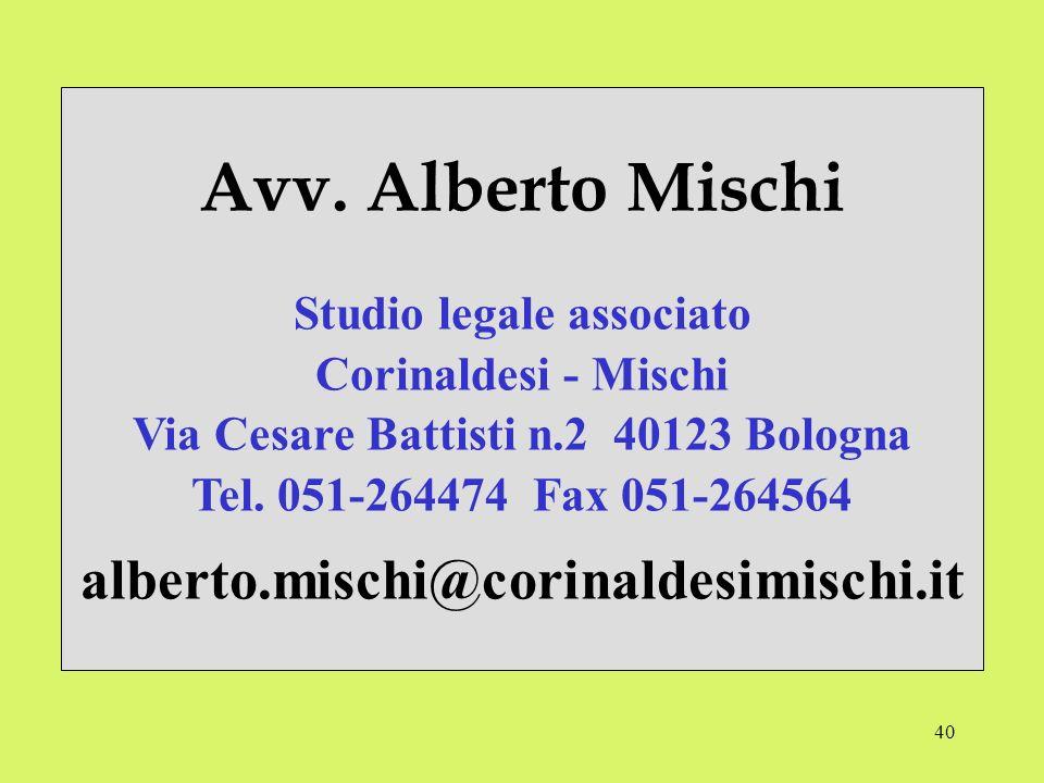 Studio legale associato Via Cesare Battisti n.2 40123 Bologna