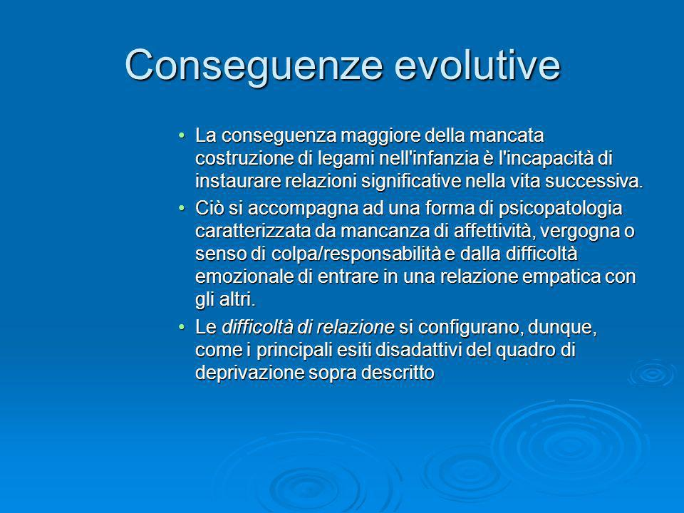 Conseguenze evolutive