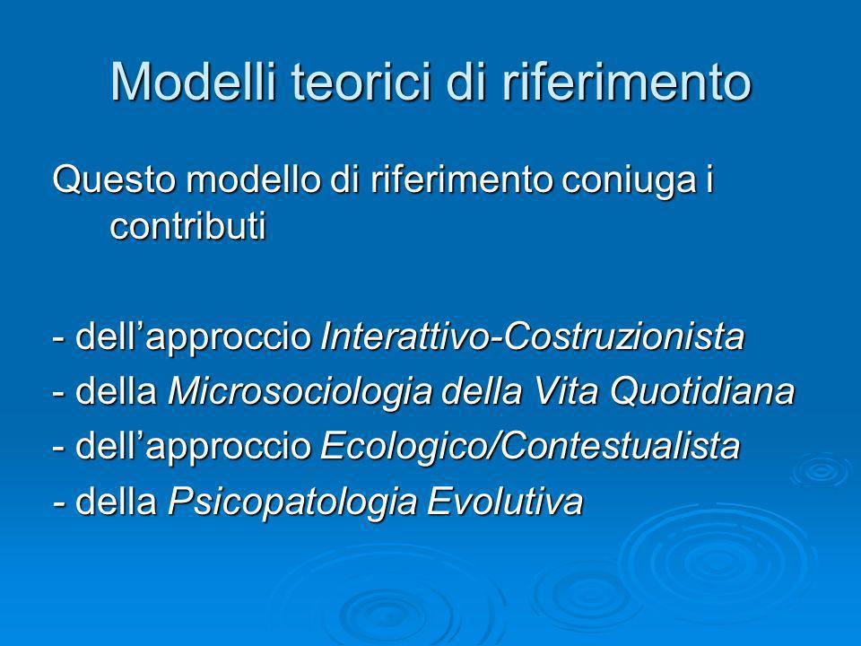 Modelli teorici di riferimento