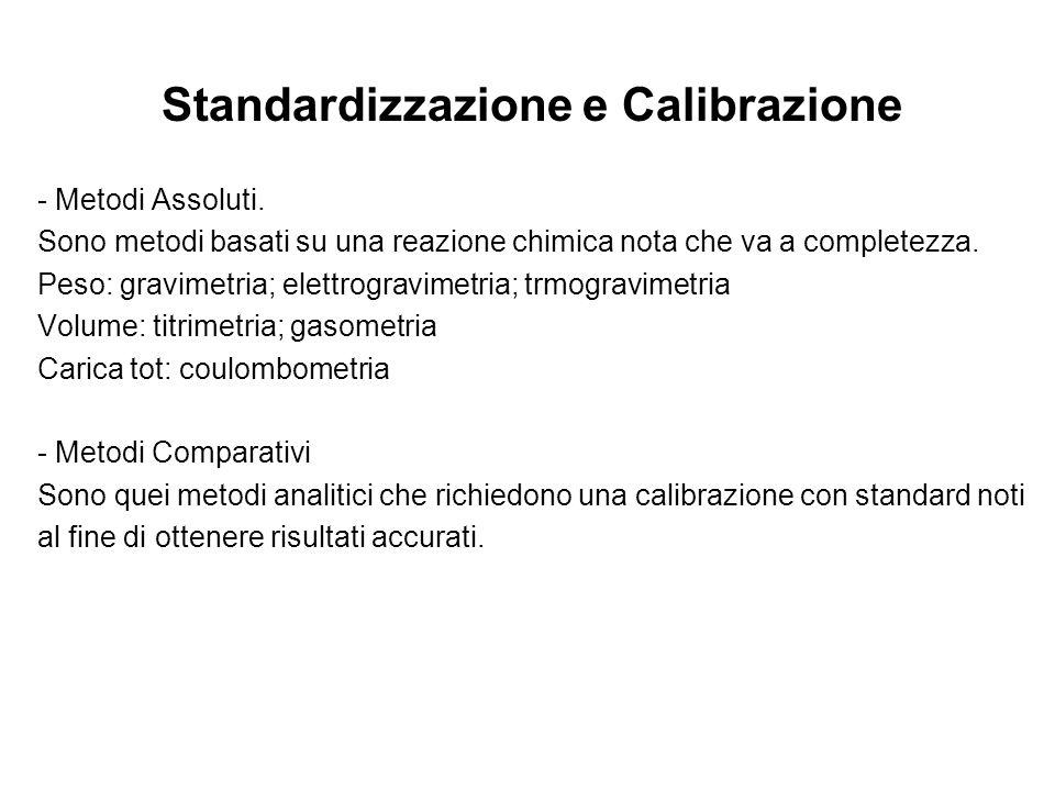 Standardizzazione e Calibrazione