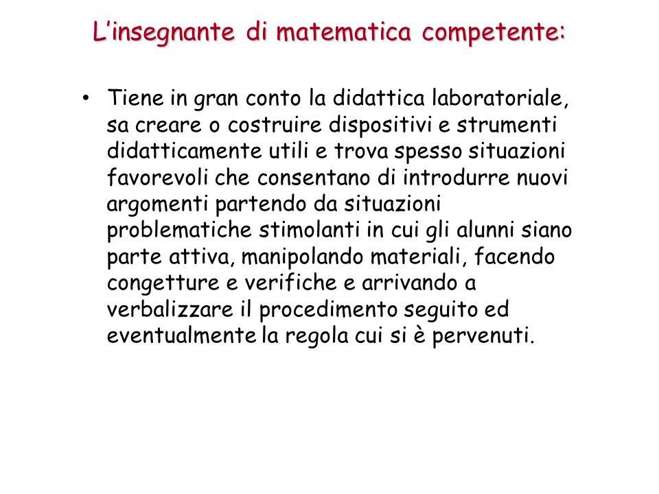 L'insegnante di matematica competente: