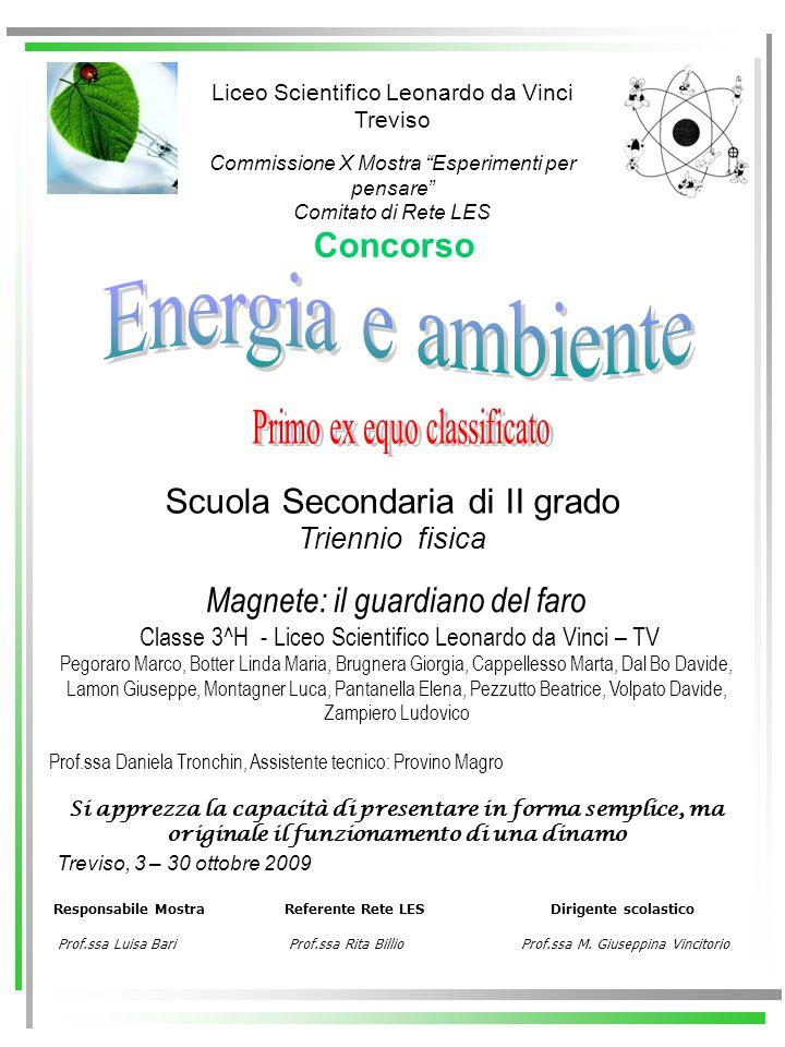 Energia e ambiente Primo ex equo classificato Concorso