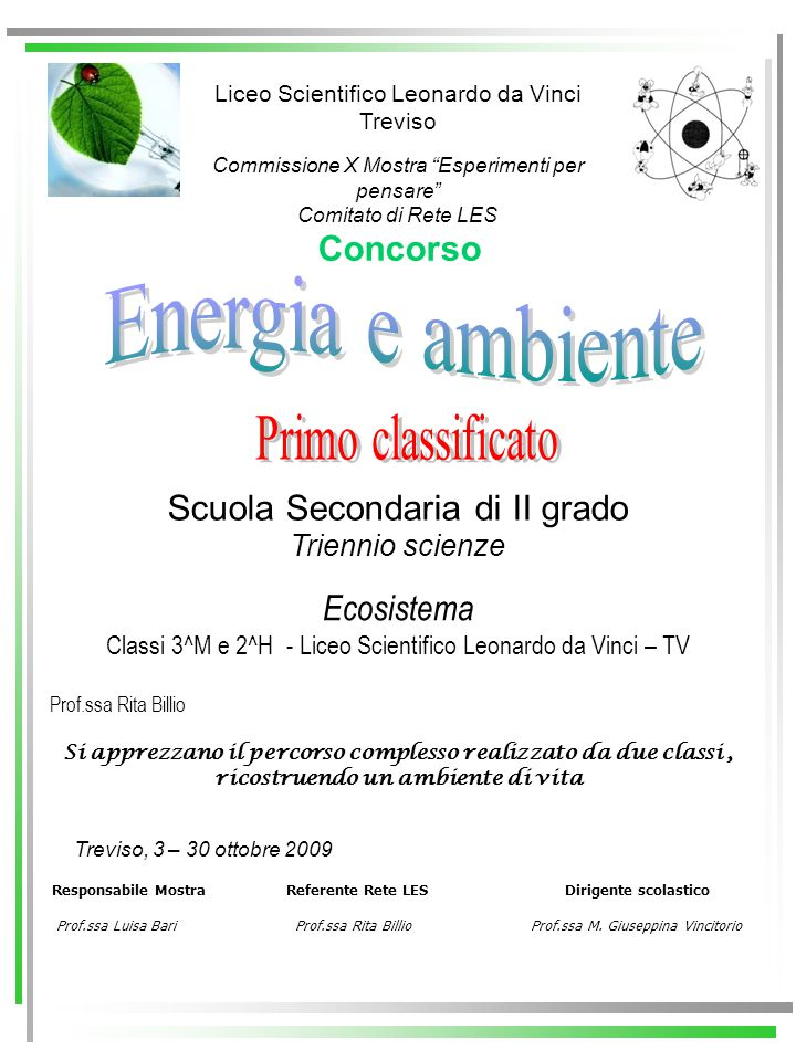 Energia e ambiente Primo classificato Concorso