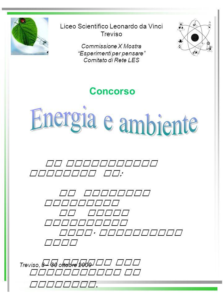 Energia e ambiente Concorso La Commissione composta da: