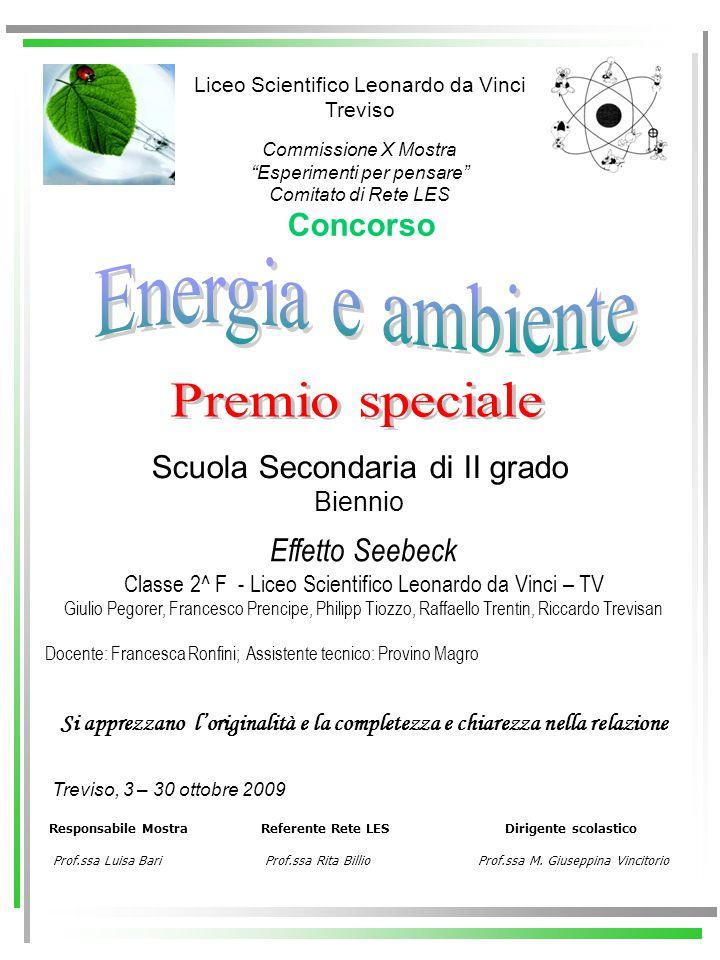 Energia e ambiente Premio speciale Concorso