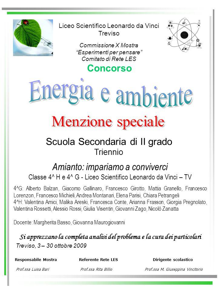 Energia e ambiente Menzione speciale Concorso