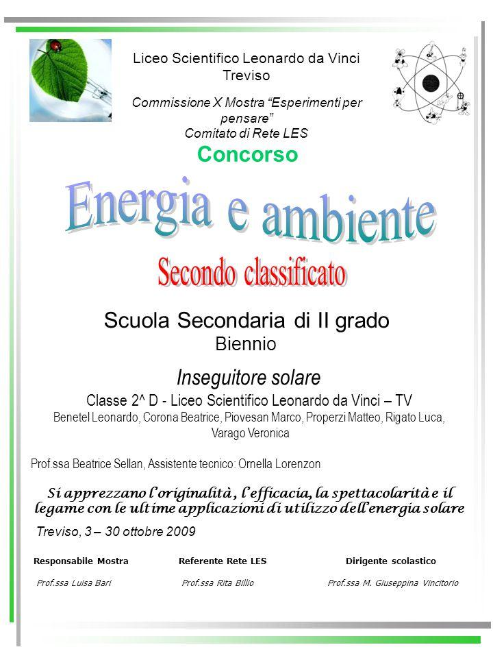 Energia e ambiente Secondo classificato Concorso