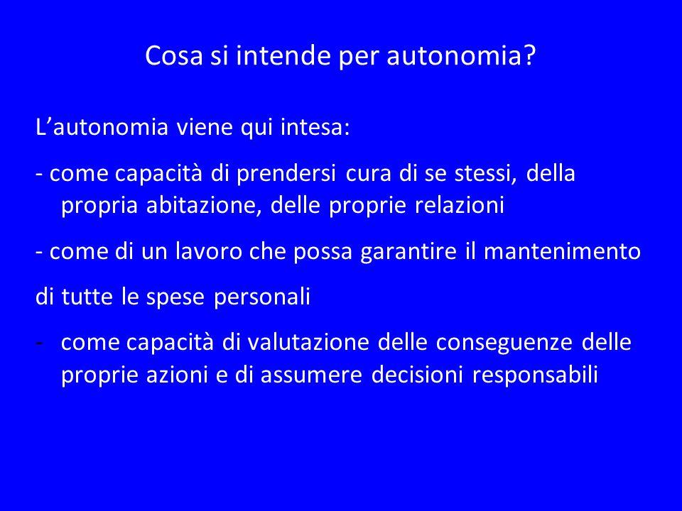 Cosa si intende per autonomia