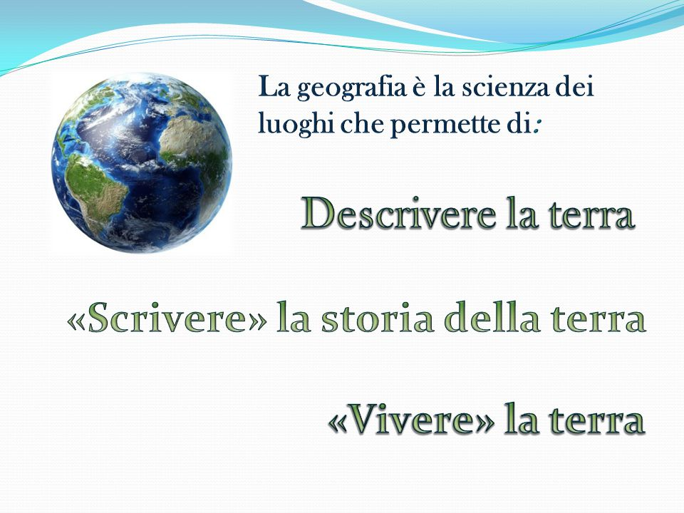«Scrivere» la storia della terra
