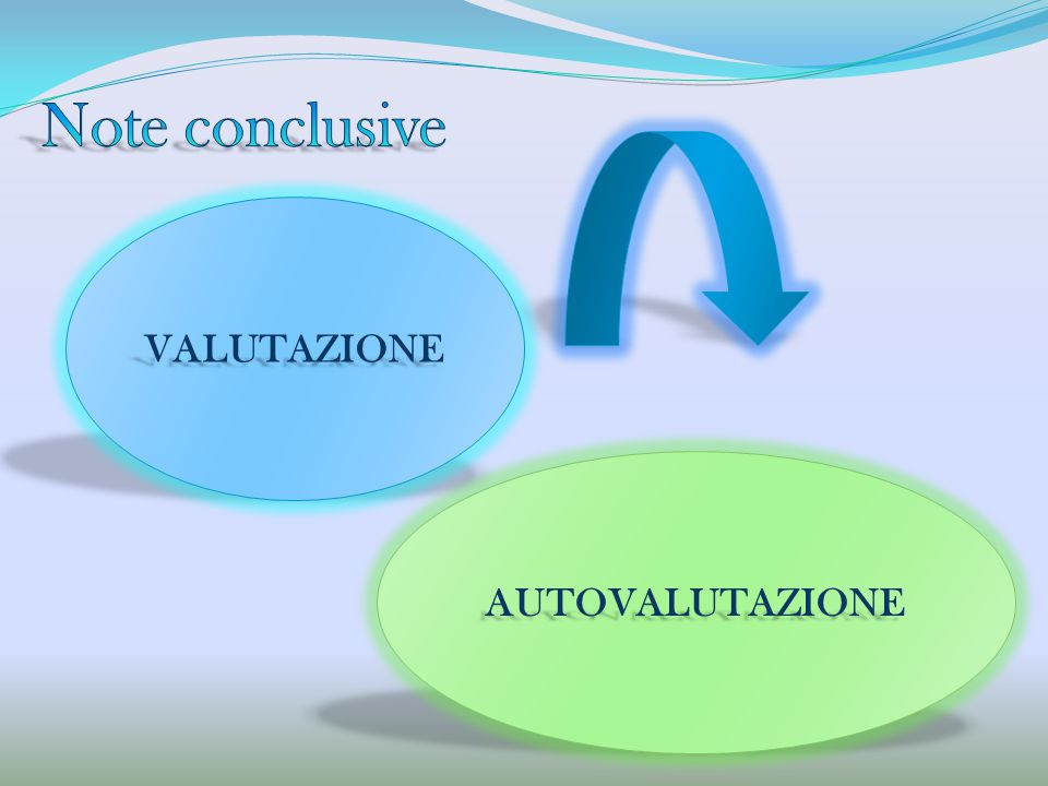 Note conclusive VALUTAZIONE AUTOVALUTAZIONE