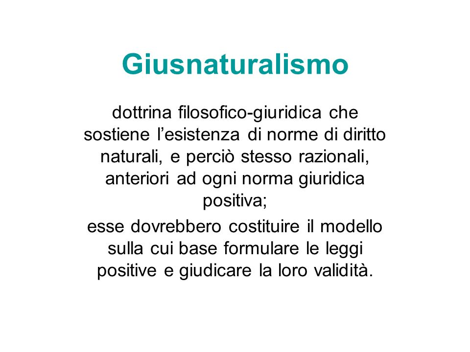 Giusnaturalismo