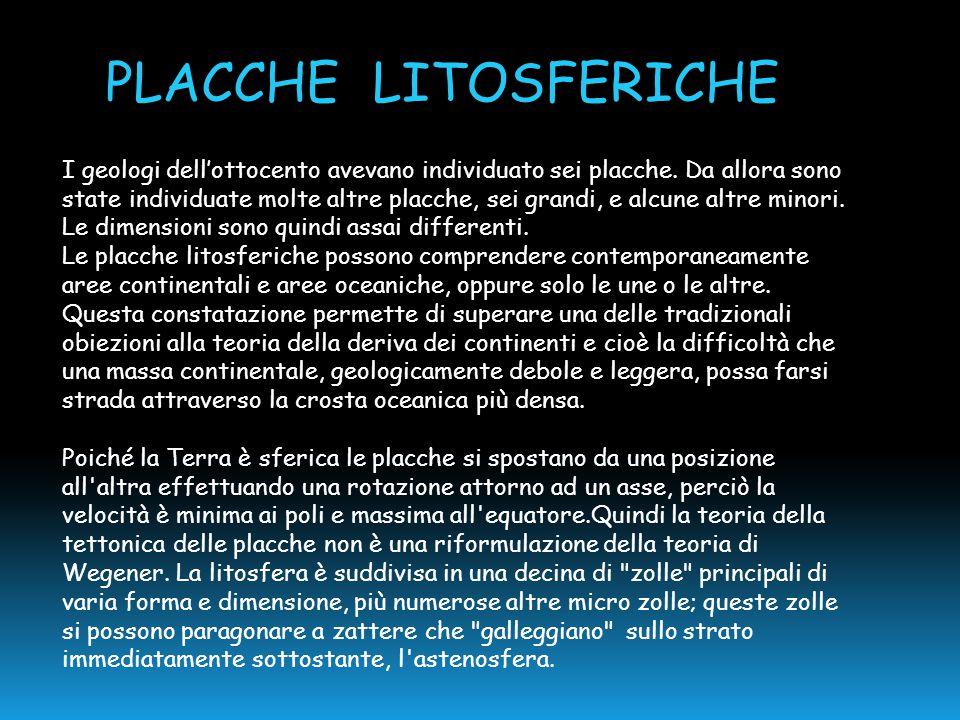 PLACCHE LITOSFERICHE