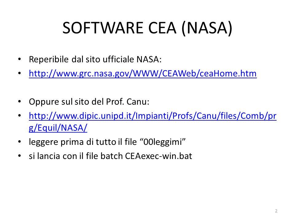 SOFTWARE CEA (NASA) Reperibile dal sito ufficiale NASA: