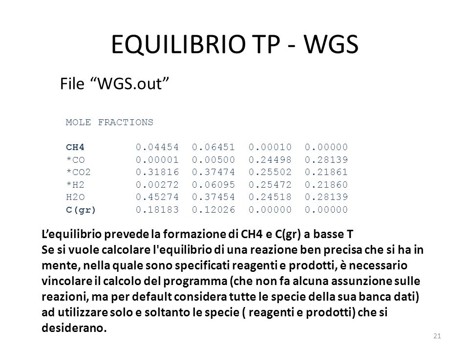EQUILIBRIO TP - WGS File WGS.out