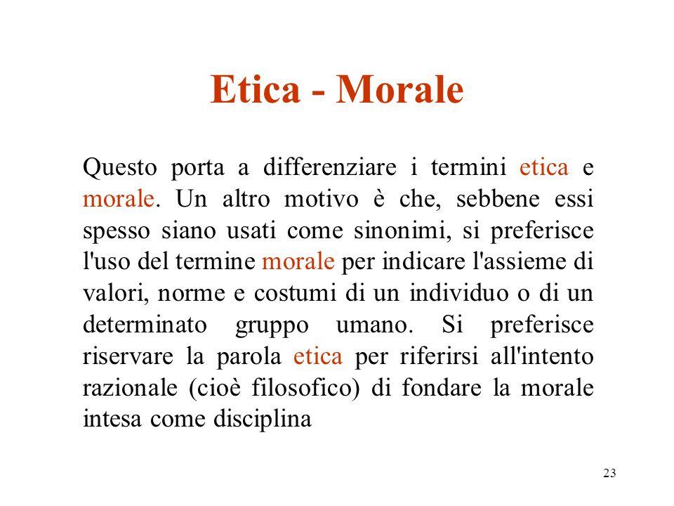 Etica - Morale