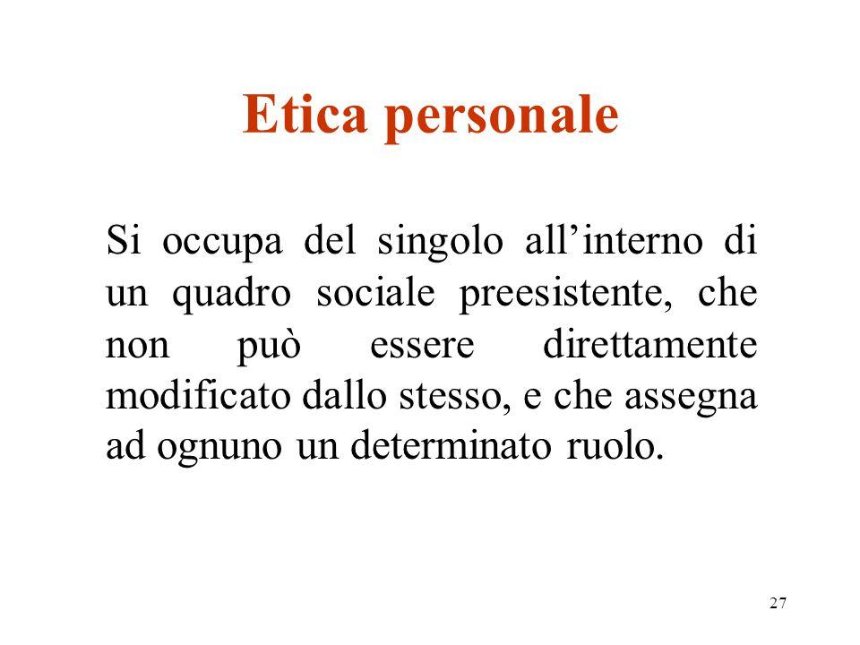 Etica personale