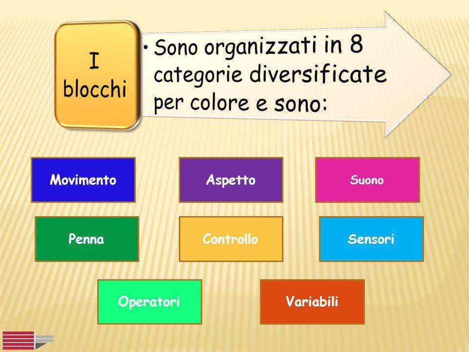 Sono organizzati in 8 categorie diversificate per colore e sono: