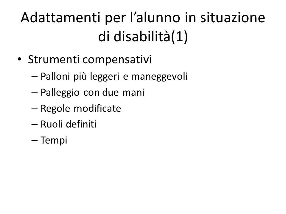 Adattamenti per l'alunno in situazione di disabilità(1)