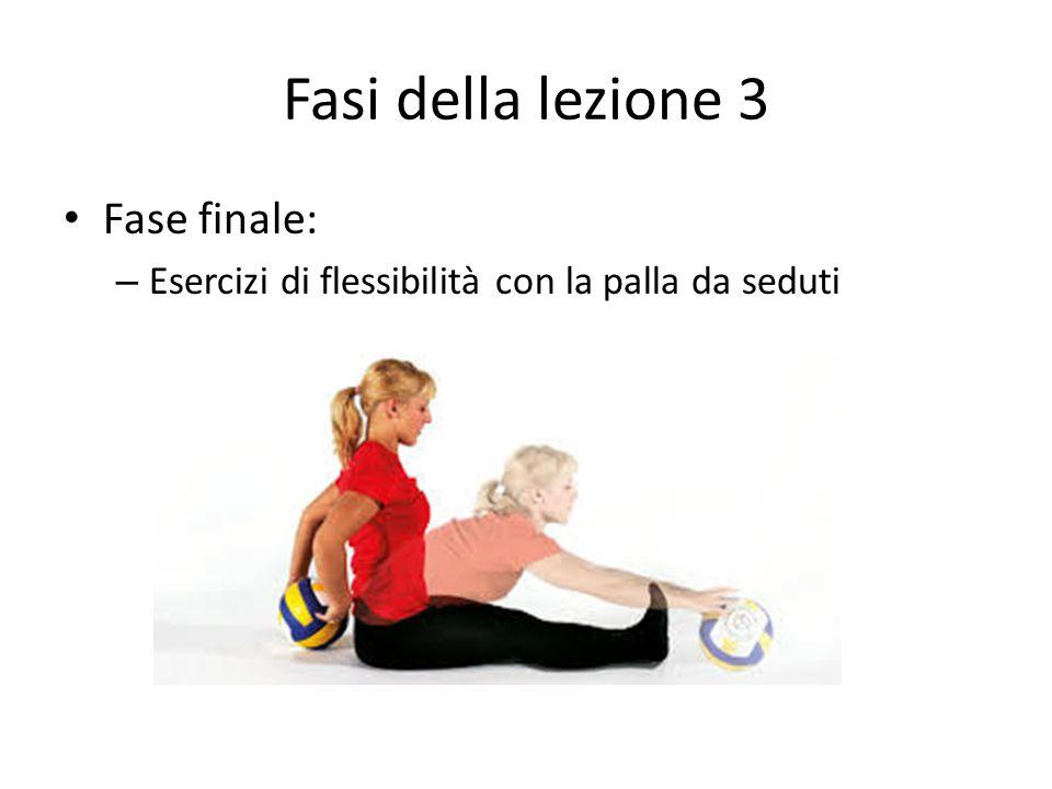 Fasi della lezione 3 Fase finale: