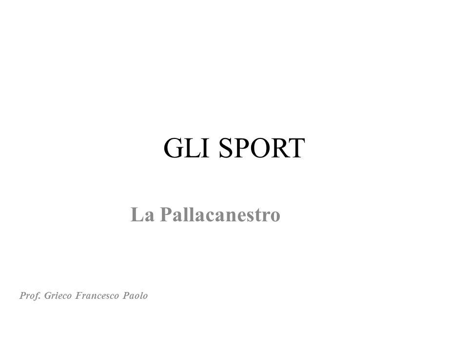 La Pallacanestro Prof. Grieco Francesco Paolo