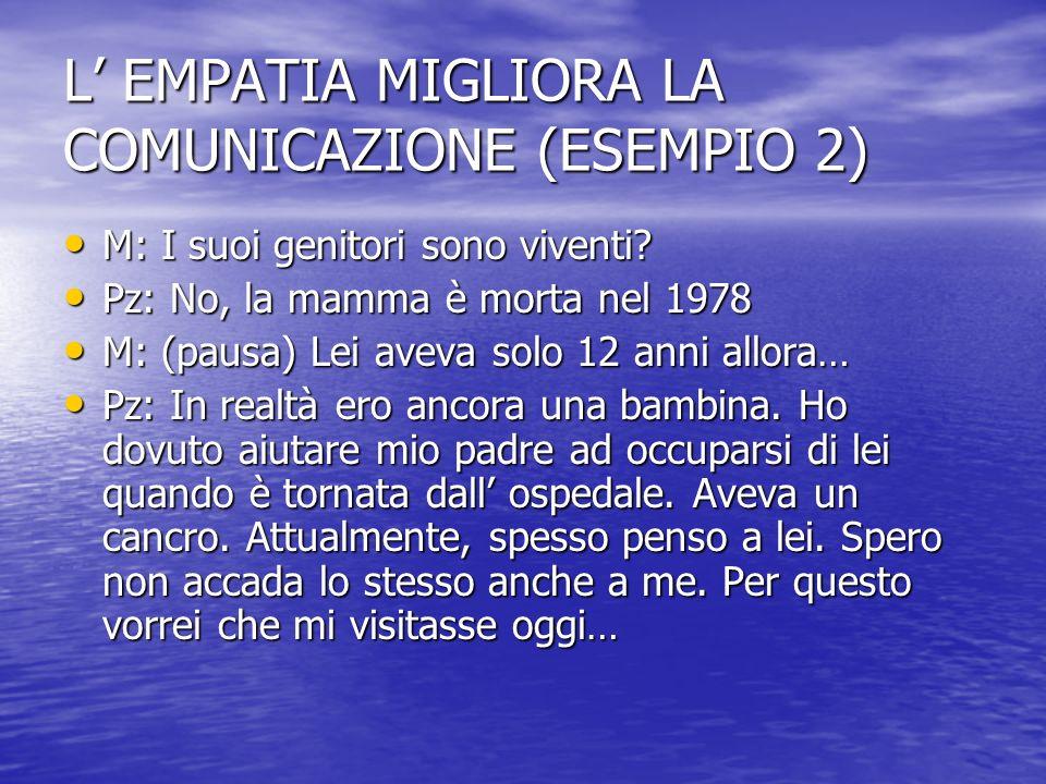 L' EMPATIA MIGLIORA LA COMUNICAZIONE (ESEMPIO 2)